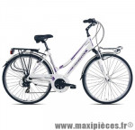 Vélo VTC trekking c436 dame glory blanc/violet t48 alu tx35 susp. marque Carratt - VTC complet