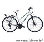 Vélo VTC sport c811 dame rambler blanc t48 alu deore 8x3 susp. marque Carratt - VTC complet