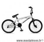 Vélo BMX c910f freestyle 20 pouces blanc marque Carratt - BMX complet