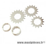 Kit de 3 pignons 14/16/18 dents pour conversion de cassette Shimano en roue-libre monovitesse fixie M-Wave