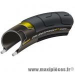 Pneu pour vélo de route 700x25 ts gp gt noir 180 tpi 250g. idéal sorties longues (25-622) marque Continental - Accessoire Vélo