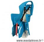 Porte bébé arrière sur porte bagage koolah bleu coussin blanc <22kgs marque Polisport - Pièce Vélo