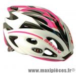 Casque route/VTT matrix r in mold blanc/rose/noir 260g 56/60 marque Selev - Casque Vélo