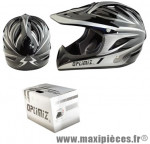Casque BMX intégral race gris/noir l (59/60) marque Optimiz - Matériel pour Vélo