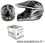 Casque BMX intégral race gris/noir xl (61/62) marque Optimiz - Matériel pour Vélo