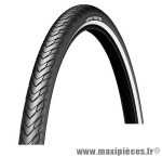 Pneu de VTT 26x1.85 tr protek flanc réfléchissant noir (47-559) marque Michelin - Pièce Vélo *prix spécial !