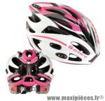 Casque route/VTT matrix r in mold blanc/rose/noir 250g 54/56 marque Selev - Casque Vélo