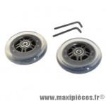 Roues de trottinette en 100 mm roulements abec 9 (paire) - Accessoire Vélo Pas Cher