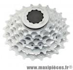 Cassette 7 vitesses chrome 12-24 dents (compatible shimano) marque Sunrace - Matériel pour Vélo