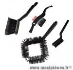 Brosse nettoyage kit complet x4 (vélo/cassette/cadre/roues) - Accessoire Vélo Pas Cher