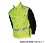 Gilet/veste sécurité jaune fluo velo-cyclo bande réfléchissante (taille L) adulte en1150 - Accessoire Vélo Pas Cher