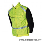 Gilet/veste sécurité jaune fluo velo-cyclo bande réfléchissante (taille XXL) adulte en1150 - Accessoire Vélo Pas Cher