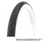 Pneu pour vélo tradi 20x1.75 noir flanc blanc marque Deli Tire