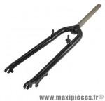Fourche VTT 26 pouces ahead-set 1 pouce 1/8 alu noir a tasseaux (démontables) et disque - Accessoire Vélo Pas Cher