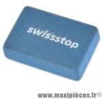 Gomme abrasive pour jante marque SwissStop - Matériel pour Cycle