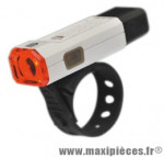 Eclairage vélo recharg. arrière blanc 1 led rouge 2 mod. fix. strap (usb) marque Marwi - Pièce Vélo