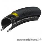 Pneu pour vélo de route 700x23 ts gp 4000 s ii noir/noir 205g. (black chili/vectran breaker marque Continental - Accessoire Vélo