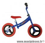 Vélo sans pédale draisienne spiderman bleu/rouge - Accessoire Vélo Pas Cher - Draisienne pour enfant