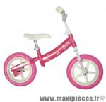 Vélo sans pédale draisienne barbie rose - Accessoire Vélo Pas Cher - Draisienne pour enfant