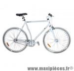 Vélo fixie homme piao blanc t59 acier chromoly pédalier 42 dents - Vélo fixie complet