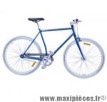 Vélo fixie homme piao bleu t59 acier chromoly pédalier 42 dents - Vélo fixie complet