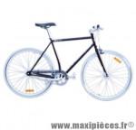 Vélo fixie homme piao bordeaux t59 acier chromoly pédalier 42 dents - Vélo fixie complet