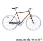 Vélo fixie homme piao orange t59 acier chromoly pédalier 42 dents - Vélo fixie complet