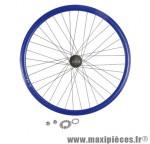Roue vélo fixie 700 bleu arrière axe plein moyeu noir flip/flop 36 (taille M)arque - Accessoire Vélo Pas Cher