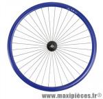 Roue vélo fixie 700 bleu avant axe plein moyeu noir 36 (taille M) - Accessoire Vélo Pas Cher