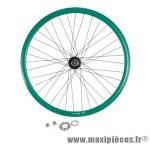 Roue vélo fixie 700 vert arrière axe plein moyeu noir flip/flop 36 (taille M)arque - Accessoire Vélo Pas Cher