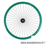 Roue vélo fixie 700 vert avant axe plein moyeu noir 36 (taille M)arque - Accessoire Vélo Pas Cher