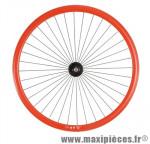 Roue vélo fixie 700 rouge avant axe plein moyeu noir 36 (taille M)arque - Accessoire Vélo Pas Cher