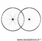 Roue route 700 (paire) r501 noir hg 10/9/8v. a pneu marque Shimano - Matériel pour Vélo