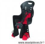 Porte bébé arrière sur porte bagage boodie noir coussin rouge <22kgs marque Polisport - Pièce Vélo