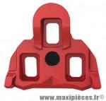 Cale pédale route type shimano spd-sl mobile 4.5° rouge (paire) marque Exustar