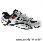 Chaussure route sr961 t38 blanc/noir 2 velcros + clic (paire) syst. look/spd marque Exustar pour cycliste