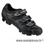 Chaussure VTT sm324 t38 noir 3 velcros (paire) marque Exustar pour cycliste
