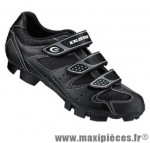 Chaussure VTT sm324 t48 noir 3 velcros (paire) marque Exustar pour cycliste