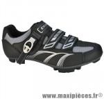 Chaussure VTT sm346b t39 noir 2 velcros + clic (paire) marque Exustar pour cycliste