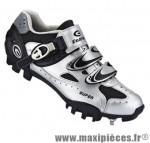 Chaussure VTT sm321 t39 gris 2 velcros + clic (paire) marque Exustar pour cycliste