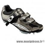 Chaussure VTT sm306 t37 titane 2 velcros + clic (paire) marque Exustar pour cycliste