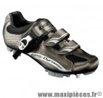 Chaussure VTT sm306 t42 titane 2 velcros + clic (paire) marque Exustar pour cycliste