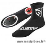 Couvre chaussure résistant pluie/vent sc011 finition carbone (taille S) 37/39 (paire) marque Exustar pour cycliste
