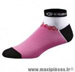 Socquette bs810 coton nano rose/blanc 43/45 (l) (paire) marque Exustar pour cycliste