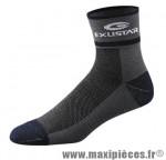 Socquette bs900 coton fil d'argent noir 46/48 (xl) (paire) marque Exustar pour cycliste