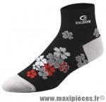 Socquette bs200 coton noir fleurs 40/42 (m) (paire) marque Exustar pour cycliste