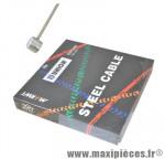 Cable frein VTT inox 1.80m diamètre 1.6 (vendu par boite de 100) marque Marwi - Pièce Vélo