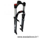Fourche VTT 26 pouces gila noir 1 pouce 1/8 100mm blocable v-brake+disque fix pm (sans pivot) marque RST - Pièce Vélo