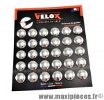 Bouchon cintre route noir (x30) sur carte marque Vélox