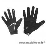 Gant hiver cg 503 (taille L) noir/blanc renfort gel (paire) marque Exustar